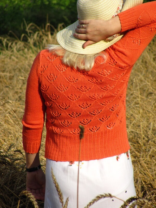Апельсиновый кардиган