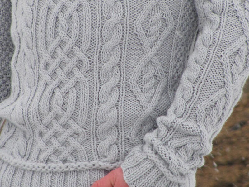 Cabled sweater-2