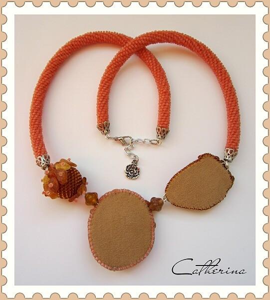 Колье «Оранжевое»