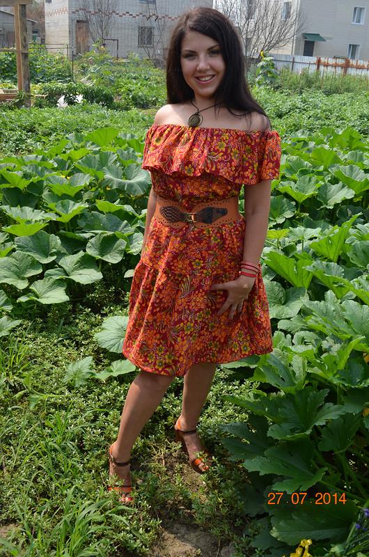 Платье вдеревенском стиле