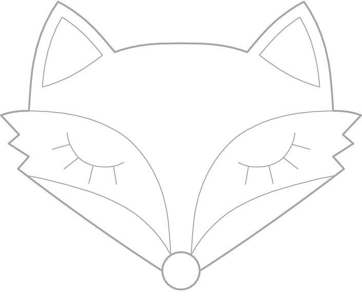 Аппликация «Лисичка»