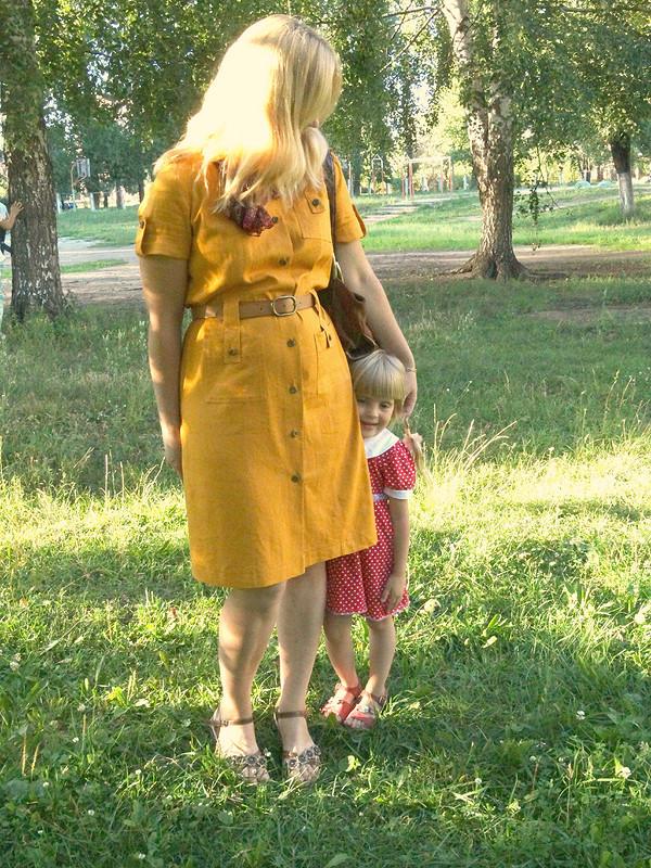 Платье встиле сафари