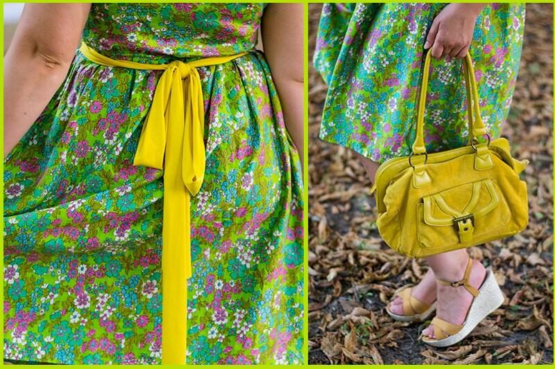 Цветочное исочное платье