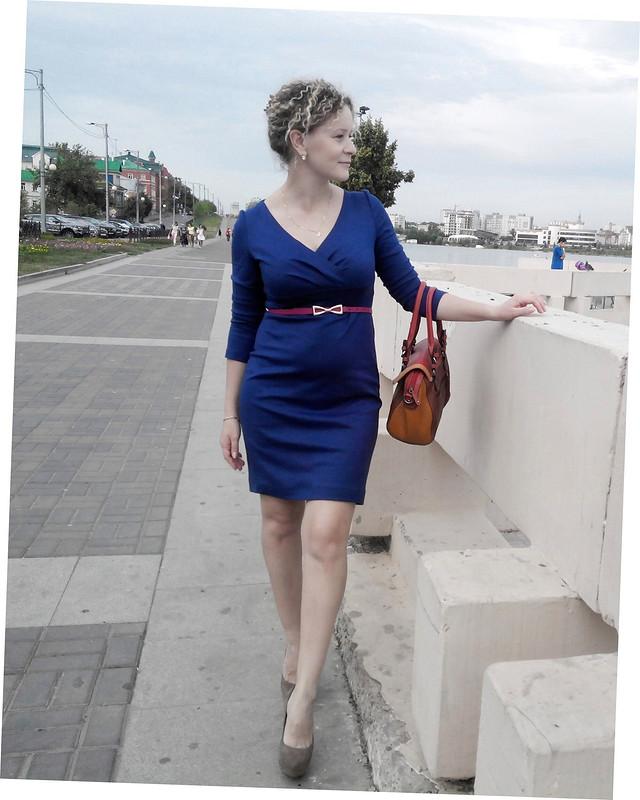 Платье цвета Черника