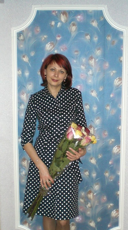 Джинсовое платье вгорошек