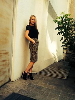 Работа с названием Леопардовая юбка