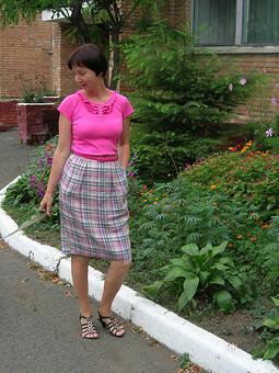 Работа с названием летняя юбка для летних футболочек