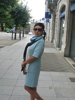Работа с названием платье а-ля 70-е