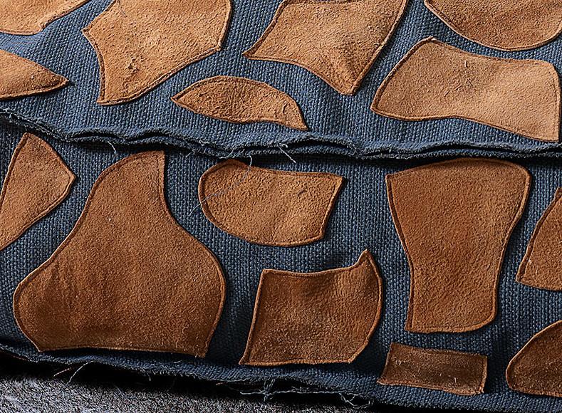 Декоративная аппликация нанапольную подушку своими руками