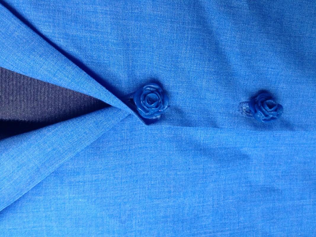 Васильковое платье- рубашка