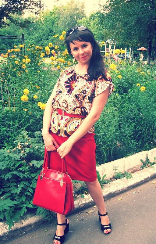 Вискозная блуза