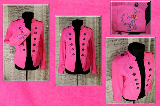 Джинсовый Розовый Жакет !!!