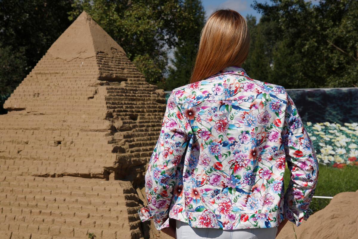 «Цветистый» блузон
