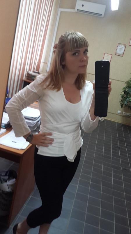 Блузка сзапахом