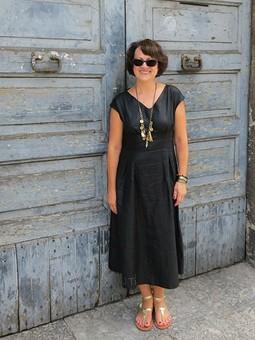 Работа с названием Good message ... или скромное hommage для J.C.Castelbajac ... или просто платье с позитивным посланием.