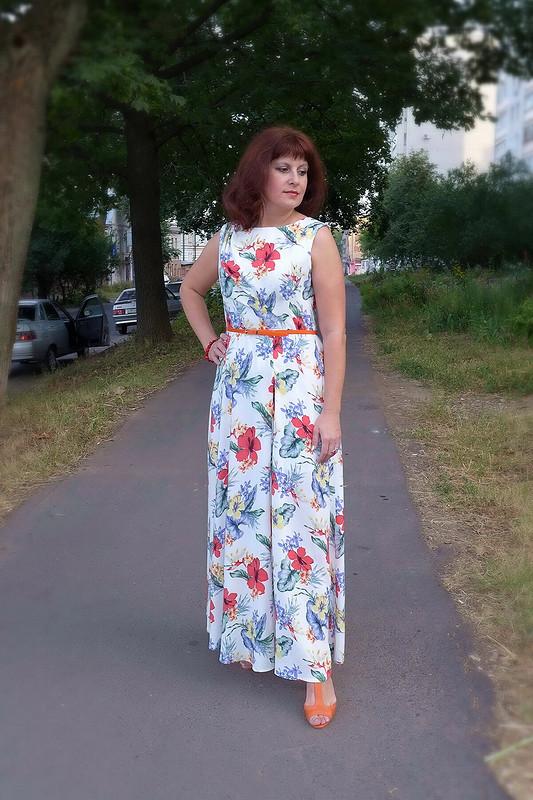 Длинное платье длястранного лета