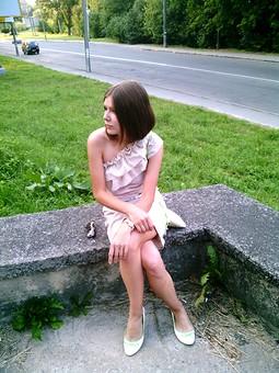 Работа с названием Платье по выкройке блузки 6/2010 120 A