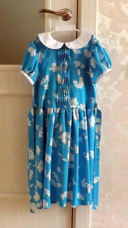 Синенький скромный платочек от OlyaSesolya