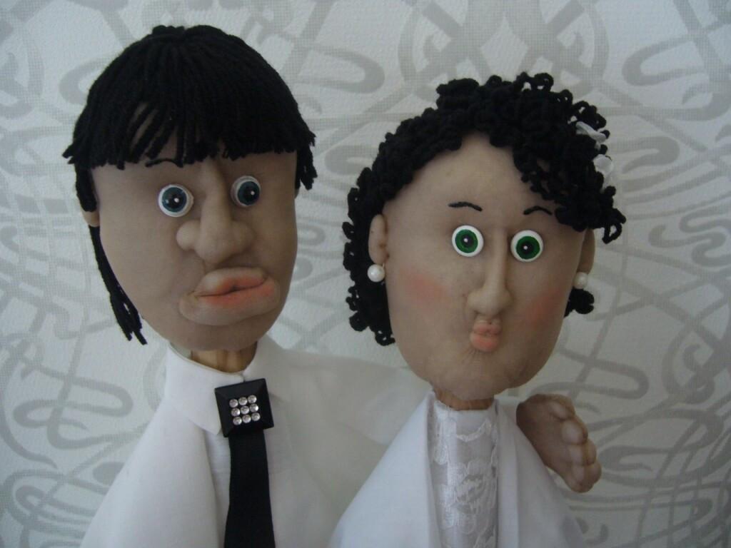 Куклы-перчатки или подарок насвадебный юбилей