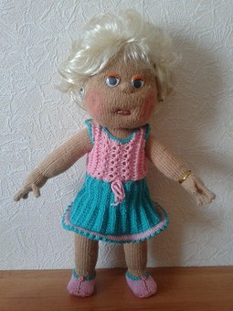 Работа с названием кукла вязанная