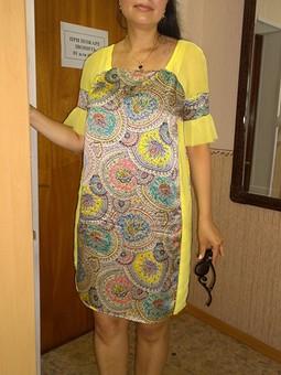 Работа с названием Платье со вставками из шифона