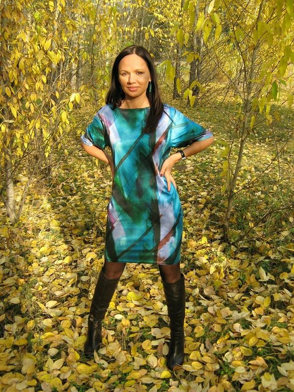 Яркое платье вяркую осень!