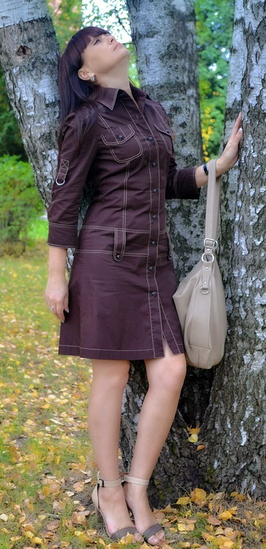 Платье сафари