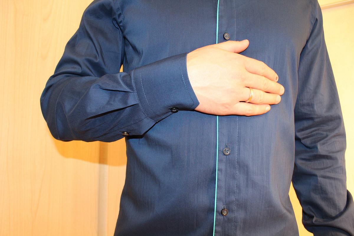 Мужская сорочка длябирюзовой свадьбы!