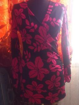 Работа с названием Мини-платье с эффектом запаха