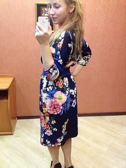 Работа с названием Платье в цветок