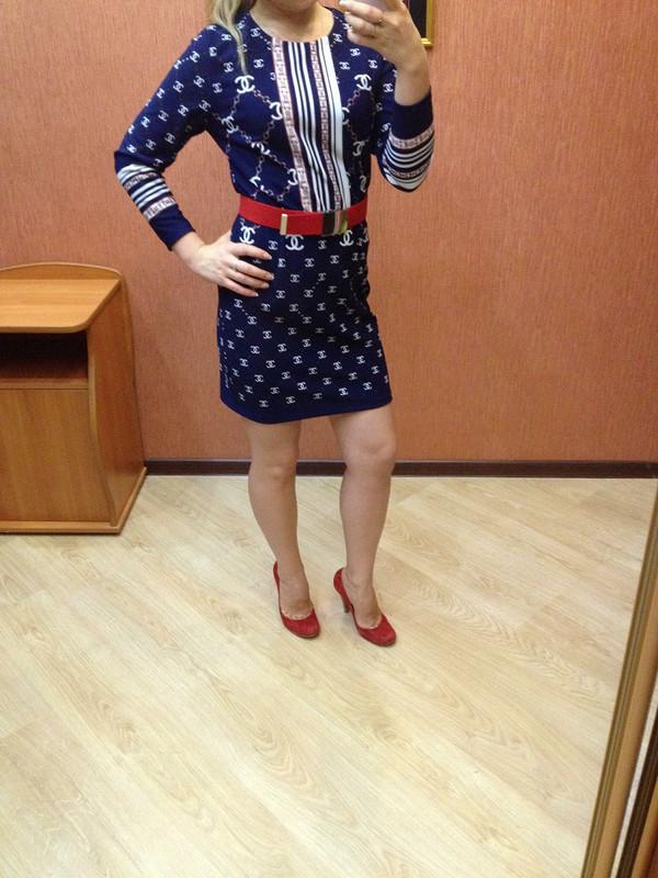 Платье спринтом «coco Chanel»