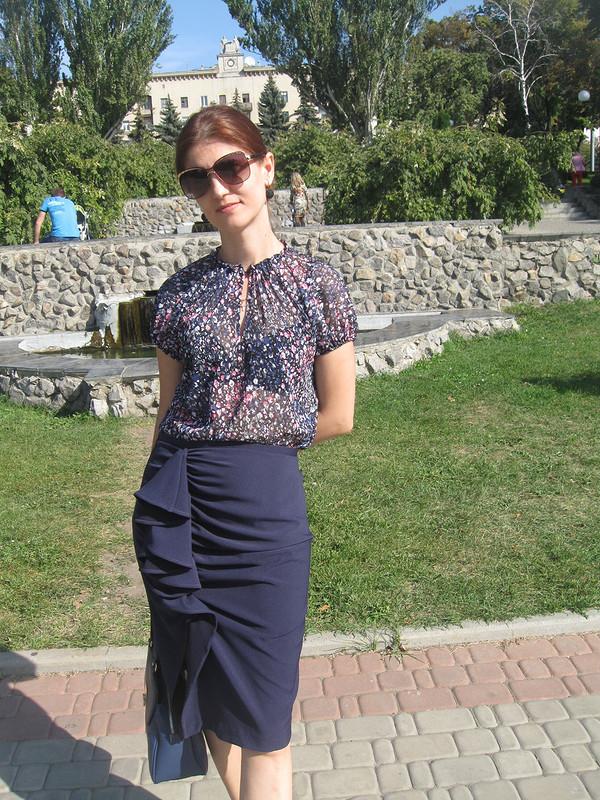 Сентябрь всинем или «какая-то чересчур экстравагантная юбка»