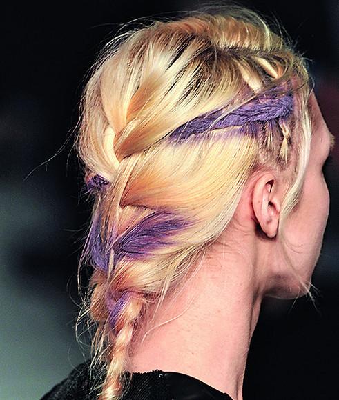 Разноцветная коса