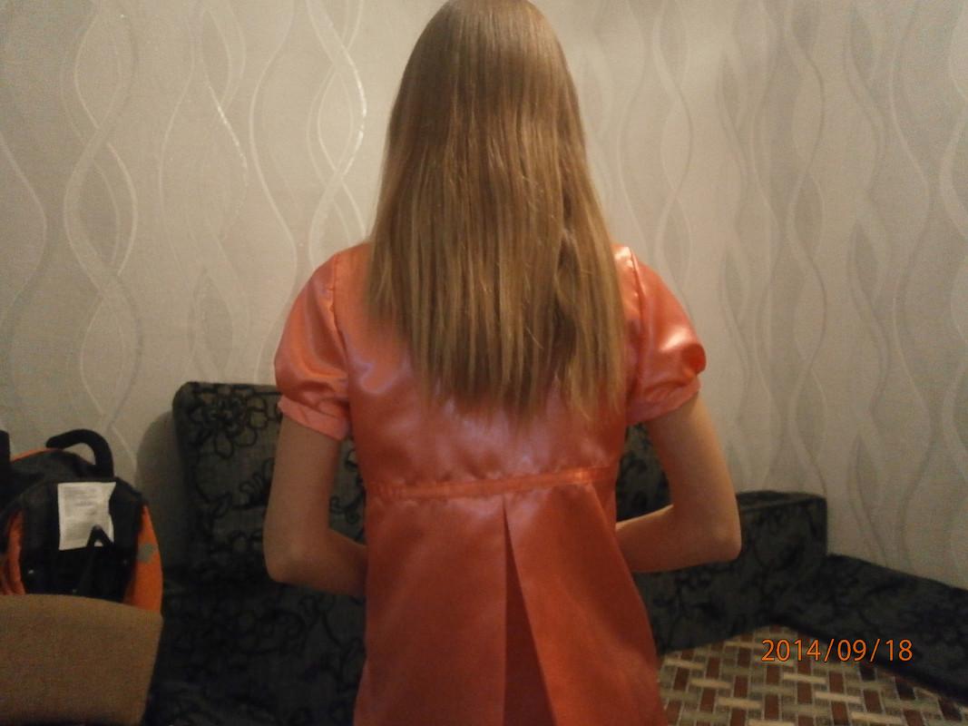 Атласная блузка своротником-бантом