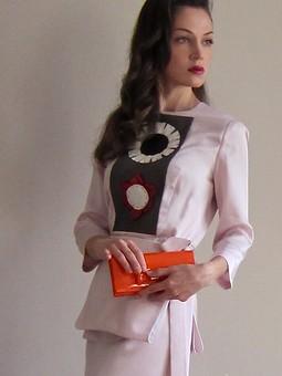 Работа с названием Розовое платье с японским мотивом весна 2013