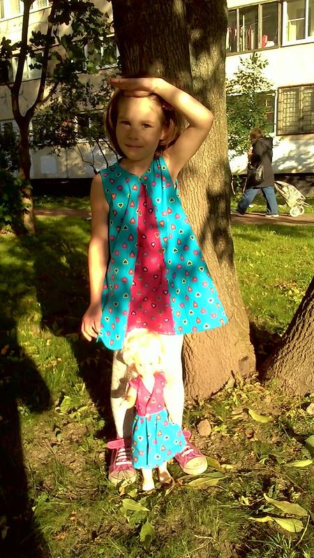 Платье сзапахом длякуклы