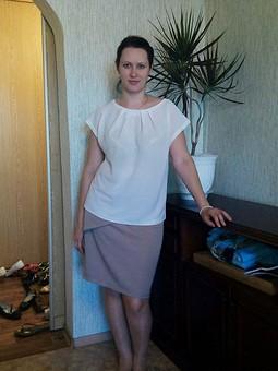 Работа с названием Чудо - выкройка и две блузки
