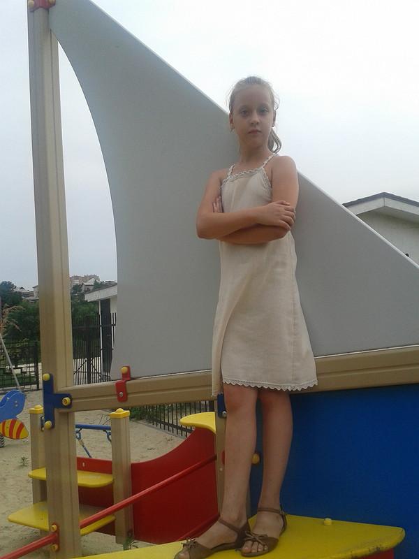 Льняное платьице