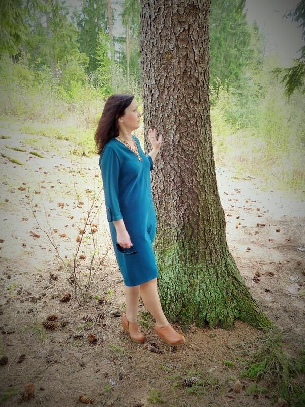 Зеленое-синее платье!