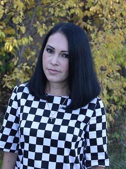 Работа с названием Шахматное платье.