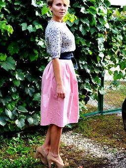 Работа с названием Блузка и юбка