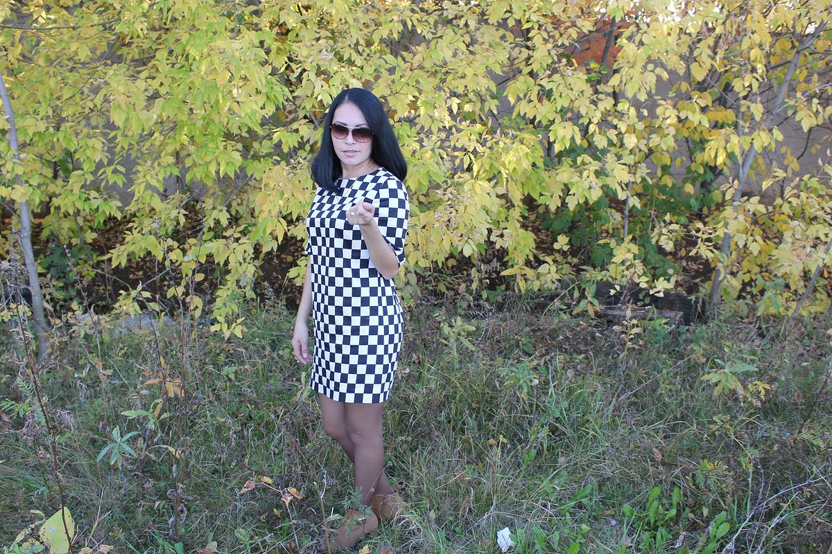 Шахматное платье.