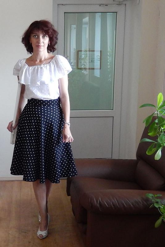 Белая блузочка изшитья