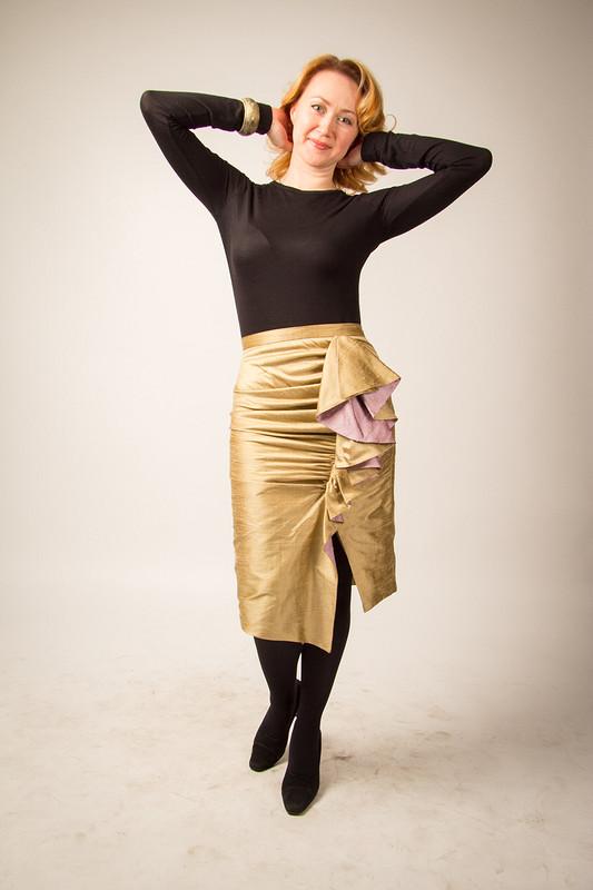 «Золотая» юбка дляЗлаты)).
