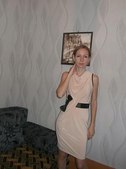 Работа с названием Трикотажное платье без подкладки