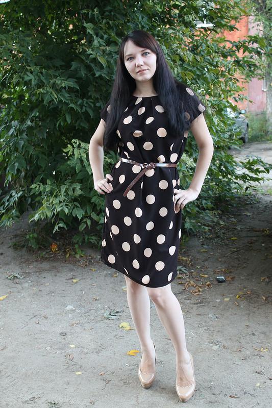 Платье вгорох