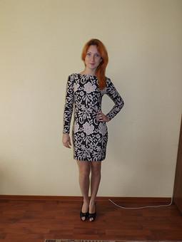 Работа с названием Трикотажное платье