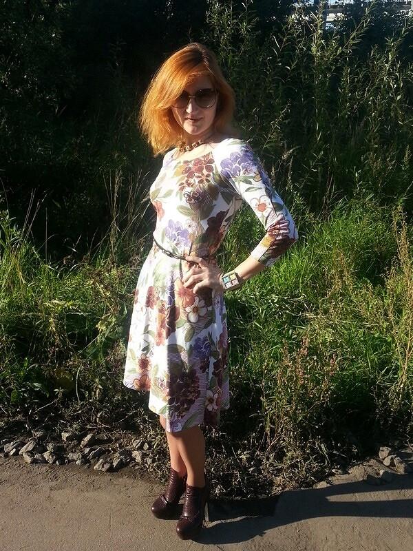 Цветочное платье или спасибо ...