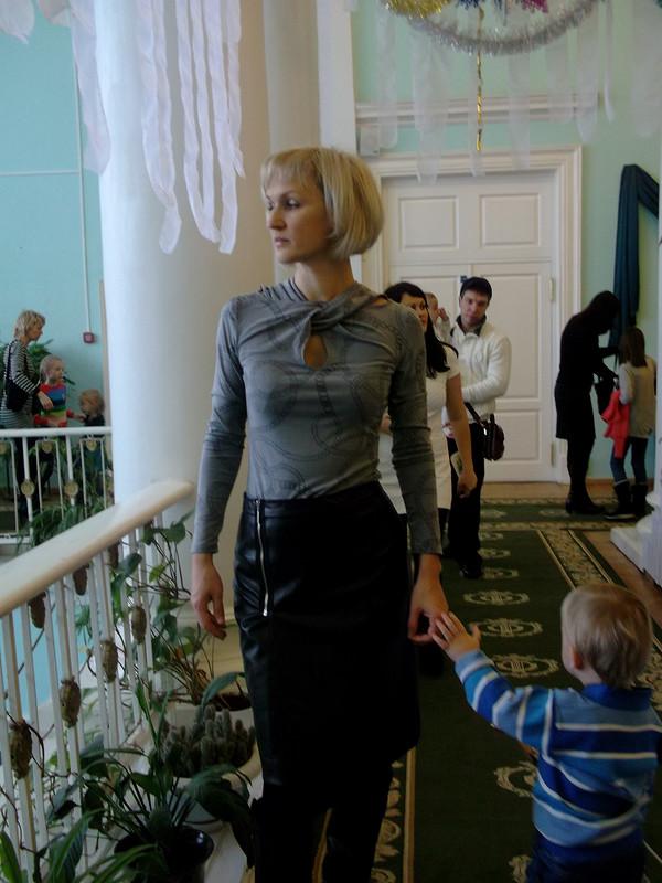 Пуловер икожаная юбка от elenaeremiichuk