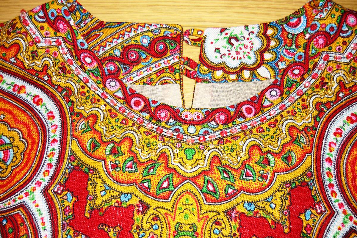 Новогодняя павлопосадская блузка от Висна